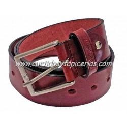 Cinturón de Cuero en 4cm de ancho (Color Burdeos)