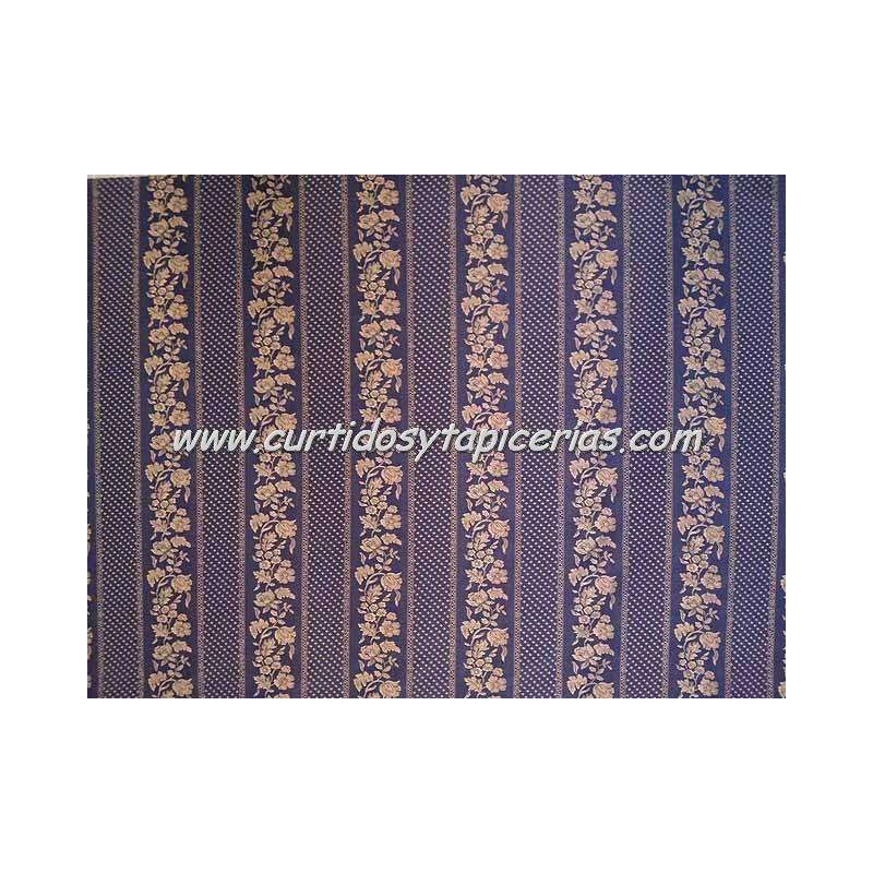 Tela para tapizar serie cenefa azul - Telas de terciopelo para tapizar ...