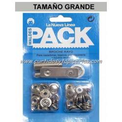 Broche Automatico en Blister Pack (utiles incluidos) Niquel
