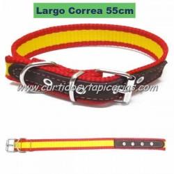 Collar de Perro con Bandera de España (55cm)