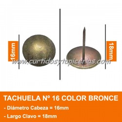 Tachuela Bronceada Nº 16