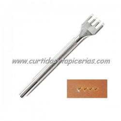 Tenedor para Cuero de 4 Puntas Oblicuas