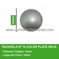 Tachuela Color Plata Vieja Nº 14