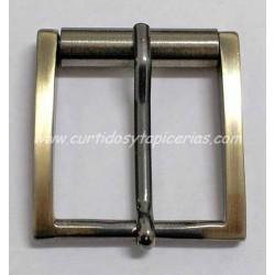 Hebilla de Cinturon de 40mm de paso (ref. 21) - Color Oro Viejo