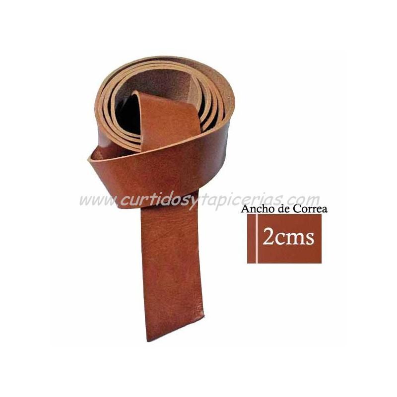 Correa de Cuero de Vaquetilla de 1ª Extra para Cinturón - Color Tostado 82564cc269f0