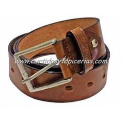 Cinturón de Cuero en 3,5cm de ancho (Color Marrón)