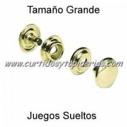 Broche Automatico (o de presion) Ref. 8100 Dorado (Juegos Sueltos)