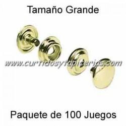 Broche Automatico (o de presion) Ref. 8100 Dorado (pack 100 Juegos)