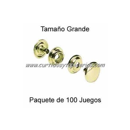 Broche Automatico (o de presion) Dorado (pack 100 Juegos)