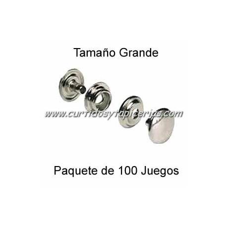 Broche Automatico (o de presion) Niquel (pack 100 Juegos)