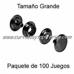 Broche Automatico (o de presion) Ref. 8100 Pavonado (pack 100 Juegos)