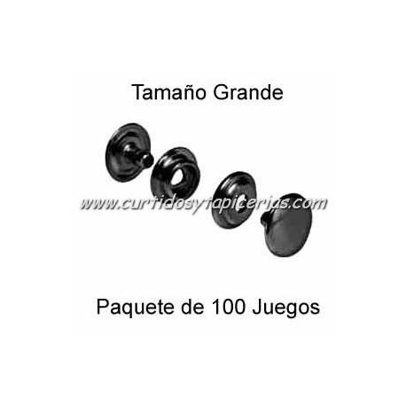 Broche Automatico (o de presion) Pavonado (pack 100 Juegos)