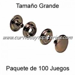 Broche Automatico (o de presion) Ref. 8100 Cobre Viejo (pack 100 Juegos)