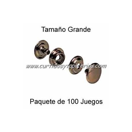 Broche Automatico (o de presion) Cobre Viejo (pack 100 Juegos)