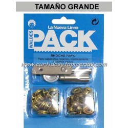 Broche Automatico en Blister Pack (utiles incluidos) Color Dorado