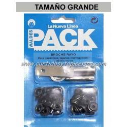 Broche Automatico Ref. 8100 en Blister Pack (utiles incluidos) Pavonado