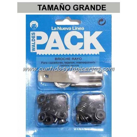 Broche Automatico en Blister Pack (utiles incluidos) Pavonado