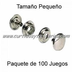 Broche Automatico (o de presion) Ref. 8020 Niquel (pack 100 Juegos)