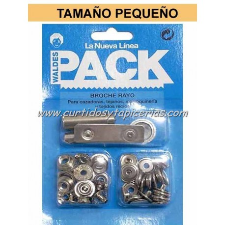 Broche Automatico Ref. 8020 en Blister Pack (utiles incluidos) Niquel