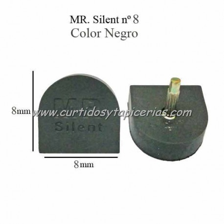 Tapitas MR Silent color Negro