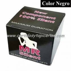 Tapitas MR Silent color Negro (Caja de 50 Pares)