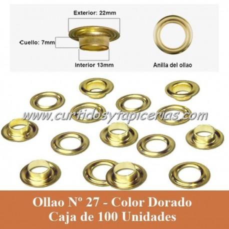 Caja Ollaos Nº 27 Color Dorado