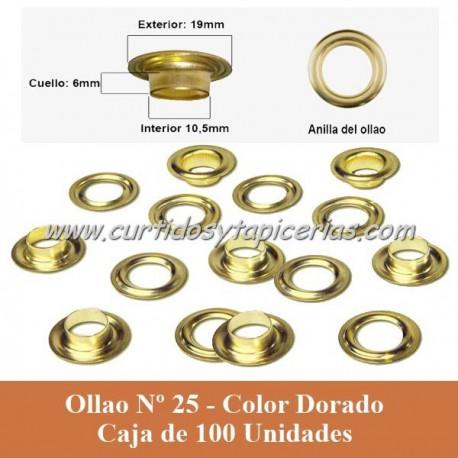 Caja Ollaos Nº 25 Color Dorado