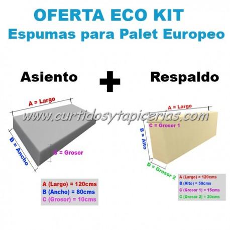 Oferta Eco Espumas Para Palet Europeo - Asiento + Respaldo