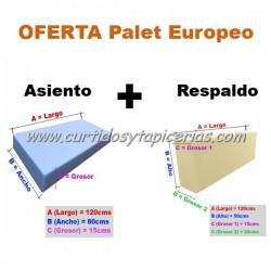Oferta Espumas Palet Europeo - Asiento + Respaldo