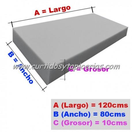 Goma Espuma Asiento Palet 10cm Grosor