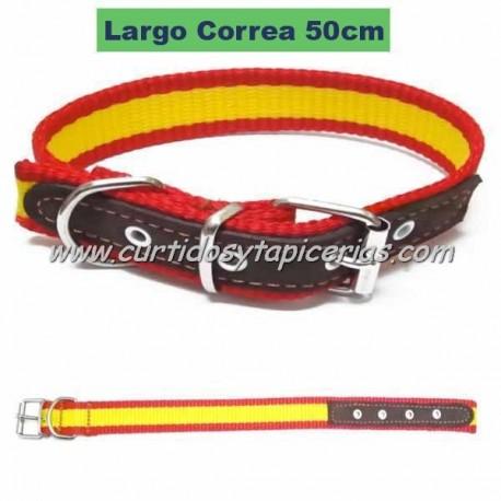 Collar de Perro con Bandera de España (50cm)
