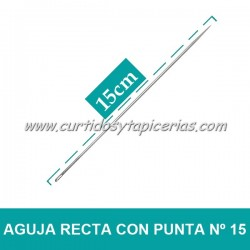 Agujas Rectas con Punta Nº 15