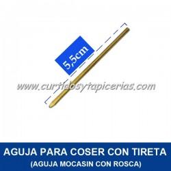 Aguja (con rosca) para coser con Tireta de Cuero