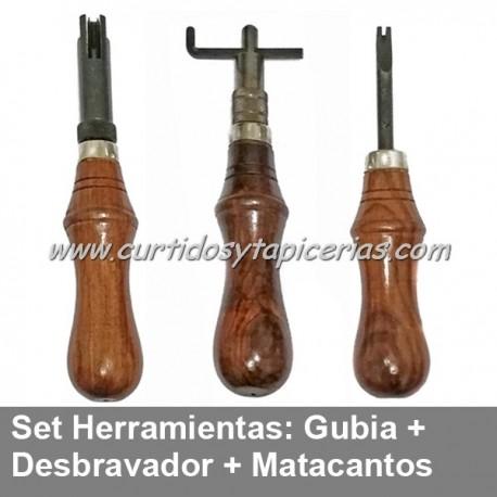 Set 3 Herramientas (Gubia, Matacantos y Desbravador Profesional)