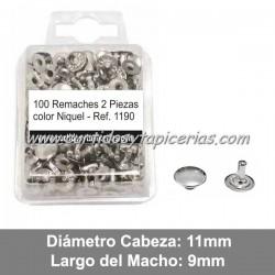 Blister de Remaches Cabeza Grande 2 Piezas (Macho y Hembra) Ref. 1190