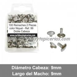 Blister de Remaches Doble Cabeza 2 Piezas (Macho y Hembra) Ref. 99