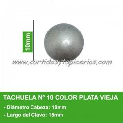 Tachuela Color Plata Vieja Nº 10