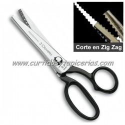 Tijera Maciza 3 Claveles corte en Zig-Zag (Festonear)