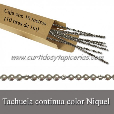 Tachuela continua Color Niquel - Caja con 10 metros