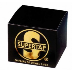 Tapitas Supertap color Negro (Caja de 50 Pares)