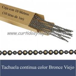 Tachuela continua Color Bronce Viejo - Caja con 10 metros