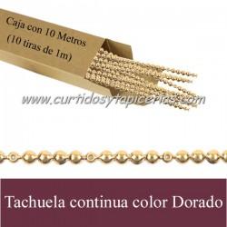 Tachuela continua Color Dorado - Caja con 10 metros