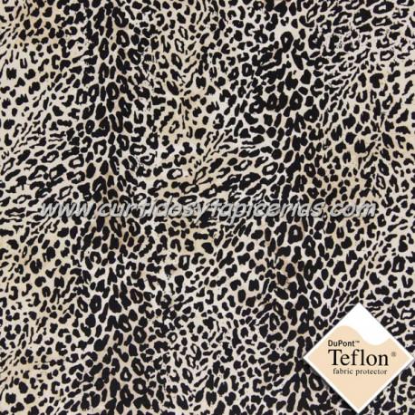 Tela para Tapizar Imitacion Leopardo Blanco- Ref. Leopardo 41