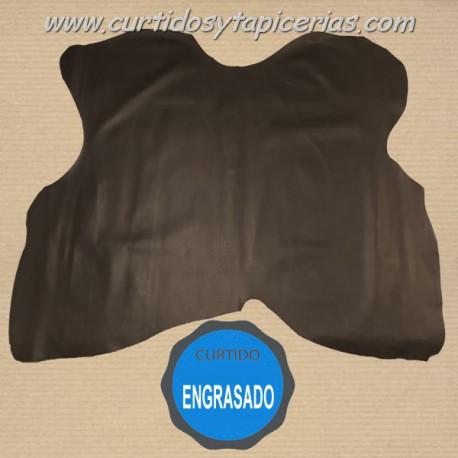 Cuero Serraje Engrasado - Marron Chocolate