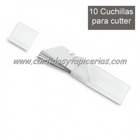 Juego de 10 Cuchillas para Cuter 3 Claveles