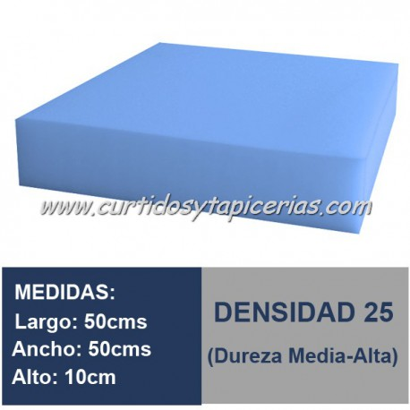 Cojín Espuma Med. 50x50x10cm D-25