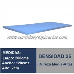 Plancha Espuma Med. 200x120x2cm D-25