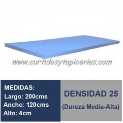 Plancha Espuma Med. 200x120x4cm D-25