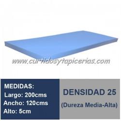 Plancha Espuma Med. 200x120x5cm D-25