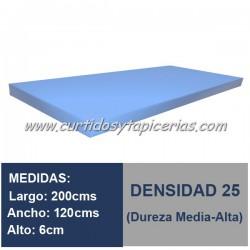 Plancha Espuma Med. 200x120x6cm D-25